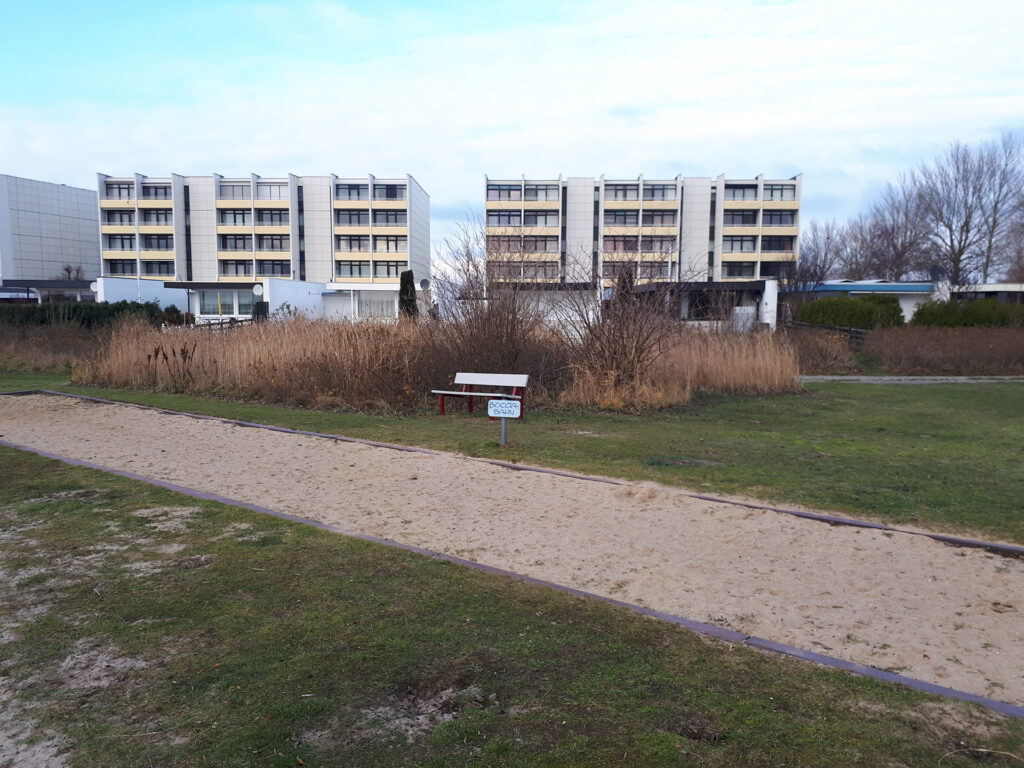 Fehmarn Südstrand, Boulebahn, Herbst 2019